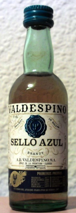 BRANDY VALDESPINO. SELLO AZUL