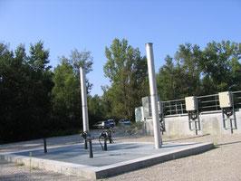 Protection transitoires par cheminées à entrée d'air