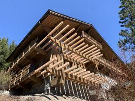 charpente chalet marmotte des neige terrasses balcons ablondi meribel