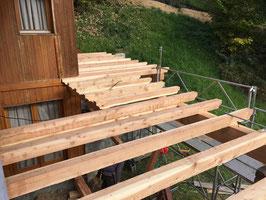 terrasse balcon bois meribel
