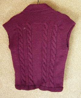 縄編みを四本にしました