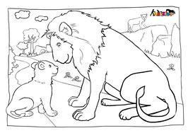 ANIKIDS Malvorlage Löwe