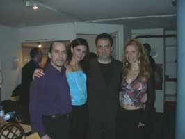con Gustavo Naveira y Giselle Anne a buenos Aires