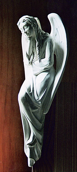 Engel als Gipsmodell.