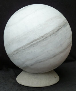 Marmor-Kugel 60cm-Skulptur-Kunstwerk von künstlerstein.de Mathias Rüffert