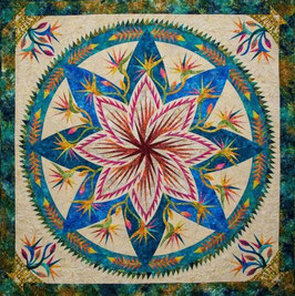 paradise in bloom wall quiltworx pattern