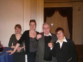 За здоровье Палькина поднимает бокалы руководство Союза писателей и области