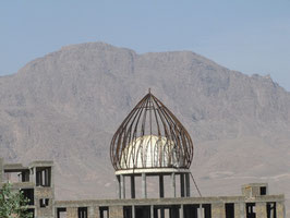 Gerüst von Moschee