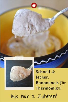 Cremiges Bananeneis aus nur 2 Zutaten für Mixer oder Thermomix #thermomixrezepte Eis