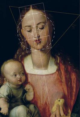 (27) Albrecht Dürer, Vergine della pera, 1526, olio su legno, 45 x 31 cm, n. invent. 1890 n. 117, Galleria degli Uffizi / Firenze