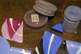pigments, décors petit feu 1ère cuisson