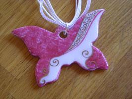 collection  pourpre, pendentif papillon platine