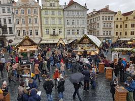 Kerstmarkt in Praag