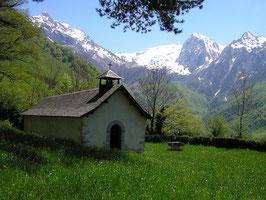 La Chapelle St Christau dans les hauteurs d'Aulet