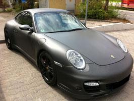 Porsche von Schwarz > zu Schwarz matt