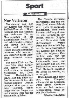 (Ostfriesen-Zeitung vom 20. August 1996)