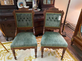 Pair Victorian Parlor Chairs $225.00