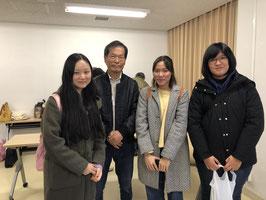 城西国際大学留学生と田村会長