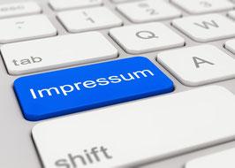 Tastatur mit Aufschrift Impressum