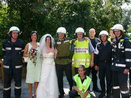 Hochzeit Absperren 01.08.2009