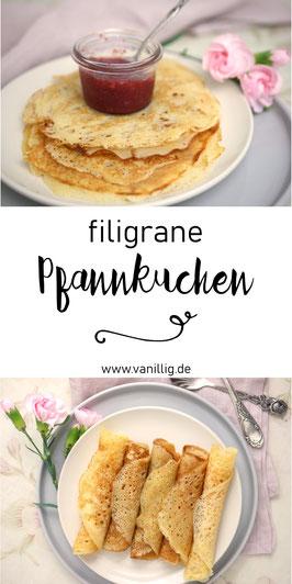 luftig filigrane Pfannkuchen aus Hefeteig