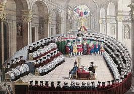 Ouvert en 1545, le Concile de Trente a duré dix-huit ans. Il a posé les bases de l'Eglise  des temps classiques, en rupture avec l'Eglise médiévale.
