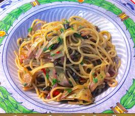 Spaghetti mit Artischocken