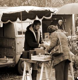 Wochenmarkt in Fassberg 1986