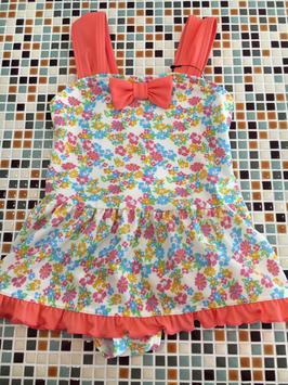 ampersand(アンパサンド)       Girl'sフラワーワンピース水着(L276126) (size 90㎝)            ¥2.900+税
