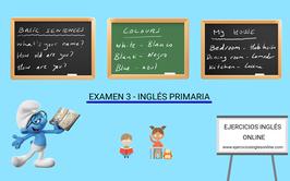 Examen 3 - primaria inglés