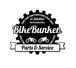 BikeBunker Logo Motorradwerkstatt NRW Stolberg Aachen Düren Eschweiler Logo Axel Städtler Enduro Superbike Caferacer Parts Service Zweiradmeister