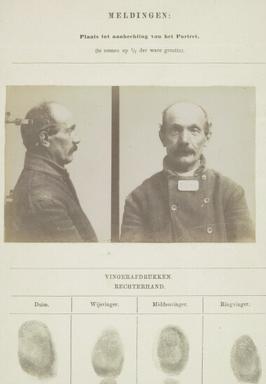 Signalementskaart Veenhuizen opname 11-08-1896