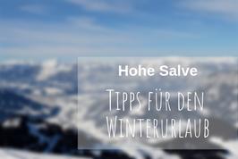 Tipps Winterurlaub Hohe Salve