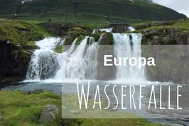 Wasserfälle in Europa
