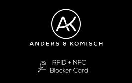 RFID NFC Blocker Card sicher unterwegs Schutz Sicherheit Geldbeutel