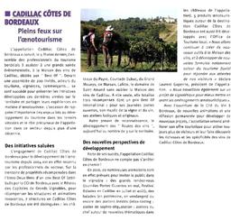 Article Union Girondine citant le Château du Payre