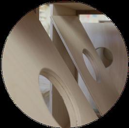 Cajon-Korpus aus Birkensperrholz