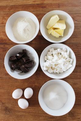 Bild: Rezept Marshmallow Brownies, einfaches Rezept, Anleitung für Brownies, Partystories