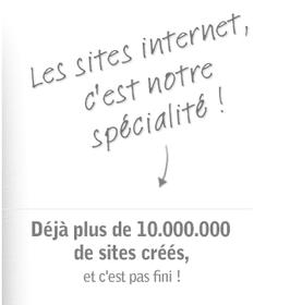 Capture d'écran du site fr.jimdo.com vantant le nombre de site créé