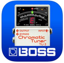 BOSS Tuner ギターチューナー無料アプリiOS(Roland)