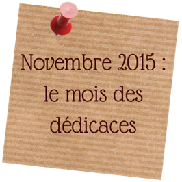Novembre 2015 : le mois des dédicaces - blog marie fananas écrivain