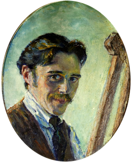 Catalog of Works N ° 2171 - Erwin Bowien, young self-portrait, 1920s