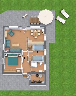 3D Grundriss Ferienhaus Fleetblick