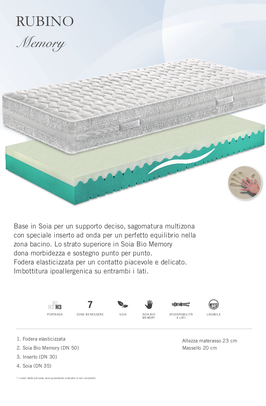 materassi ferrara resina memory soiabio manifattura falomo sfoderabile ipoallergenico anallergico