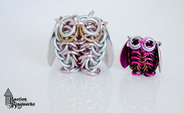 Pink Family of Owls