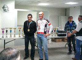 Albert Moya et moi: Albert ch. du Gard V+, et moi vice-ch. et meilleur coureur Gardois du groupe 1