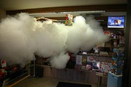 Schutznebel sichert eine Tabaktrafik