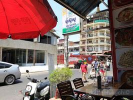 カンボジア プノンペン 国立博物館付近のカフェ