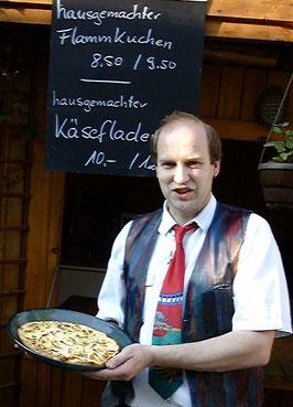 Quicheform mit Flammkuchen