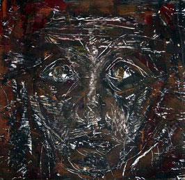 Koenigskind, 25 cm x 24 cm, Couache auf Holz, 2004, Privatbesitz